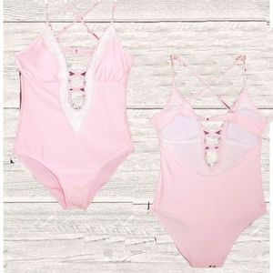 NWOT PINK ONE PIECE SWIMSUIT